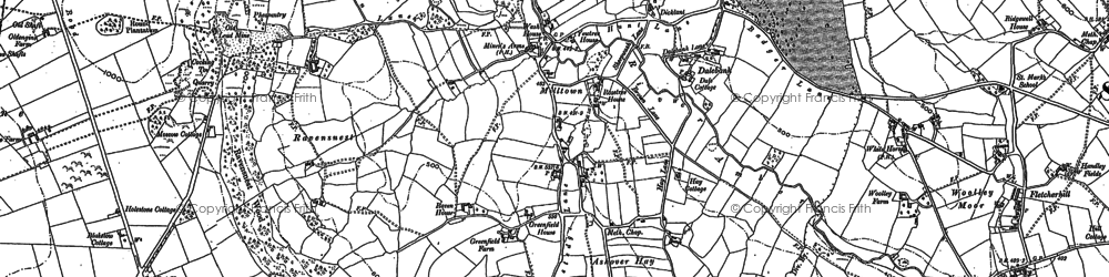 Old map of Ashover Hay in 1878