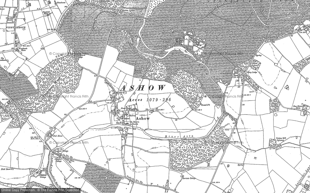 Old Map of Ashow, 1886 in 1886