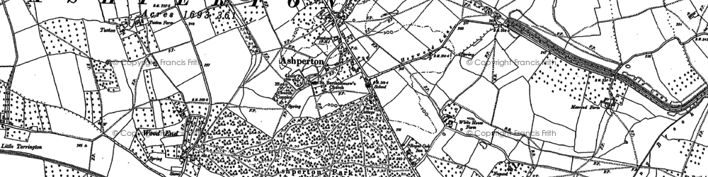 Old map of Ashperton in 1886