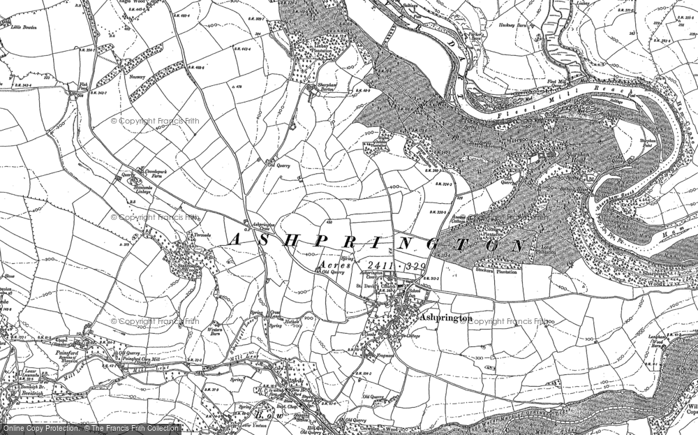 Old Map of Ashprington, 1886 - 1887 in 1886