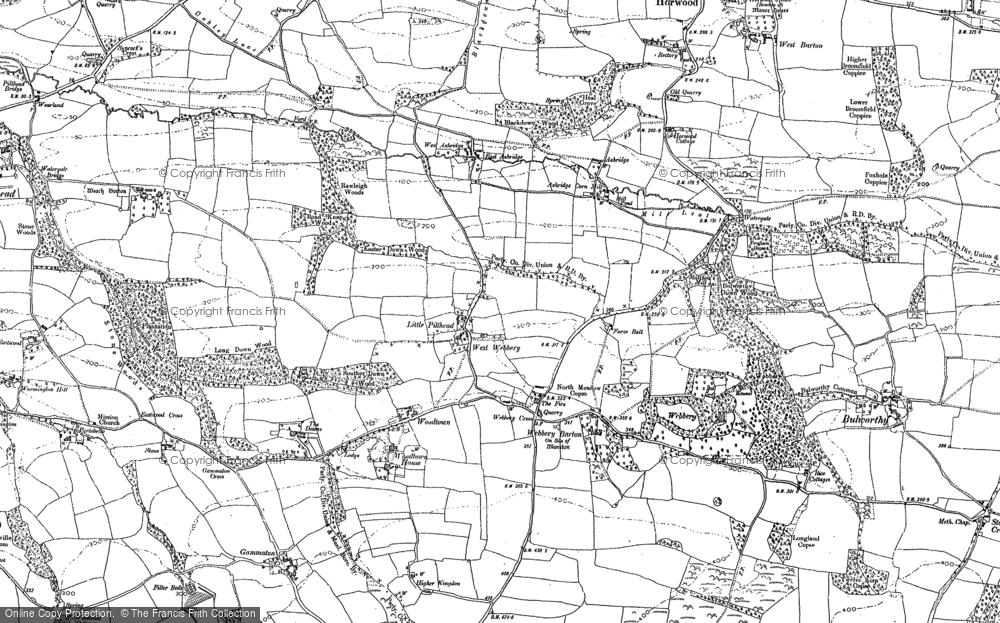 Old Map of Ashridge, 1886 in 1886