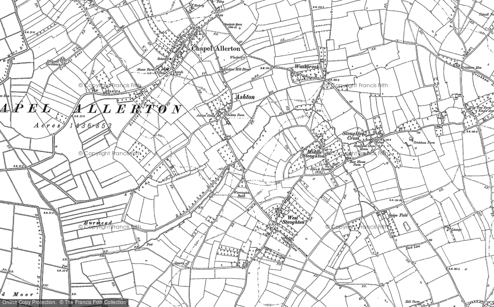 Old Map of Ashton, 1884 in 1884