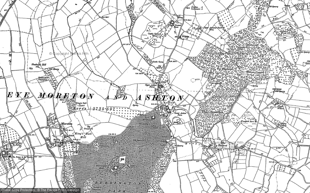 Old Map of Ashton, 1885 - 1902 in 1885