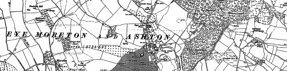 Old map of Ashton in 1885