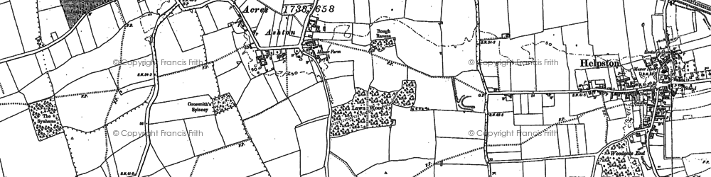 Old map of Ashton in 1886