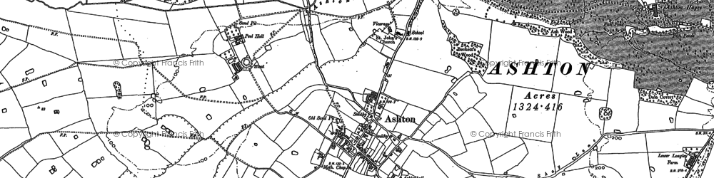 Old map of Ashton in 1897