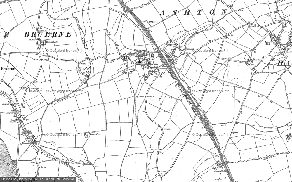 Old Map of Ashton, 1899 in 1899