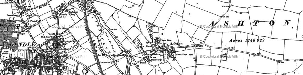 Old map of Ashton in 1899