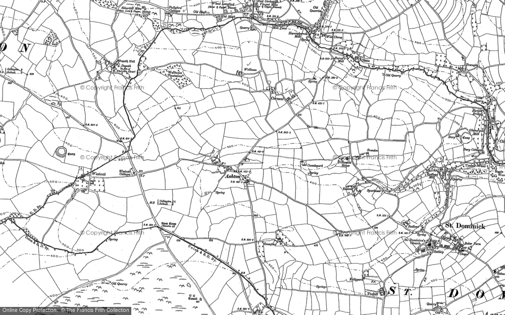 Old Map of Historic Map covering Tipwell in 1905