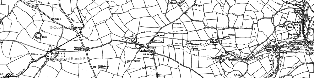 Old map of Westcott in 1905