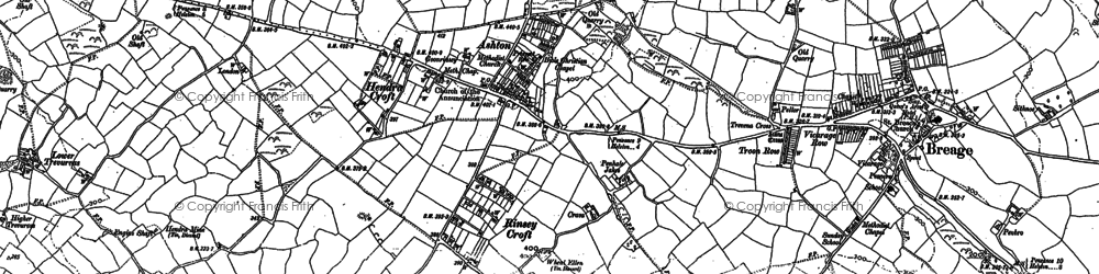 Old map of Rinsey Croft in 1907