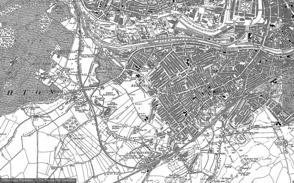 Old Map of Ashton Gate, 1902 in 1902