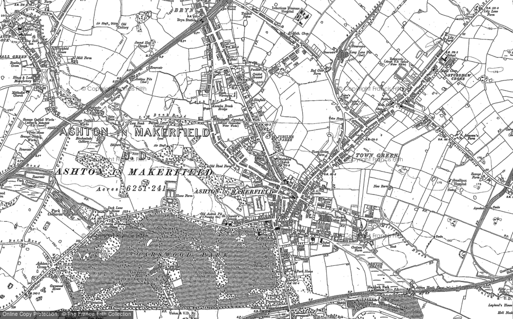 Map of Ashton-in-Makerfield, 1892
