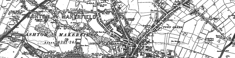 Old map of Ashton-in-Makerfield in 1892