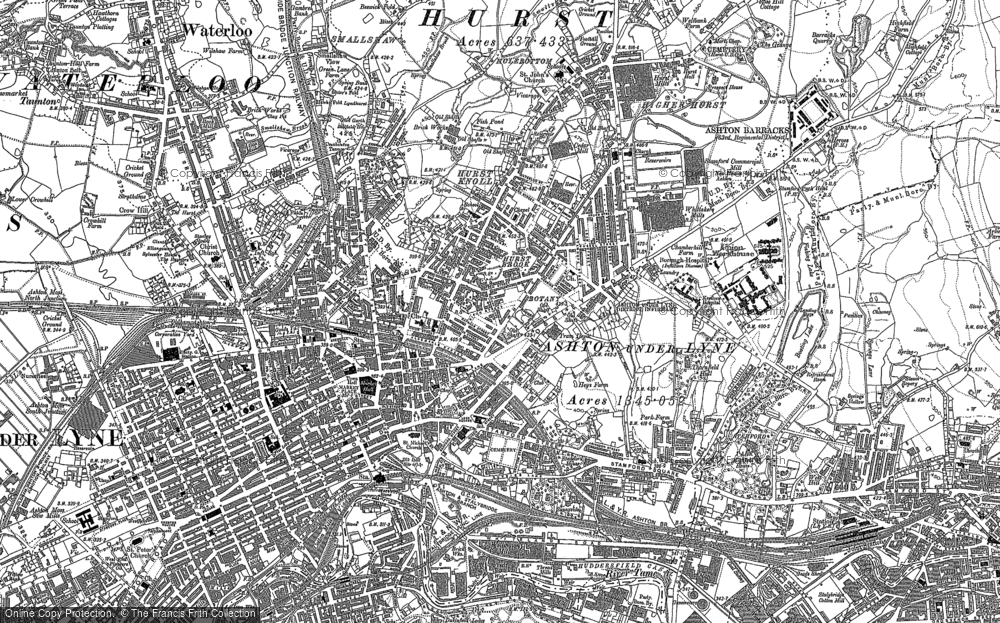 Old Map of Ashton-Under-Lyne, 1907 in 1907