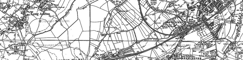 Old map of Ashton Vale in 1902