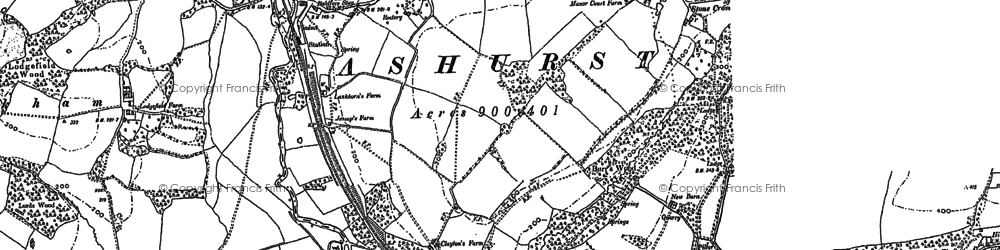 Old map of Ashurst in 1907