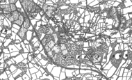 Old Map of Ashurst Wood, 1897 - 1908