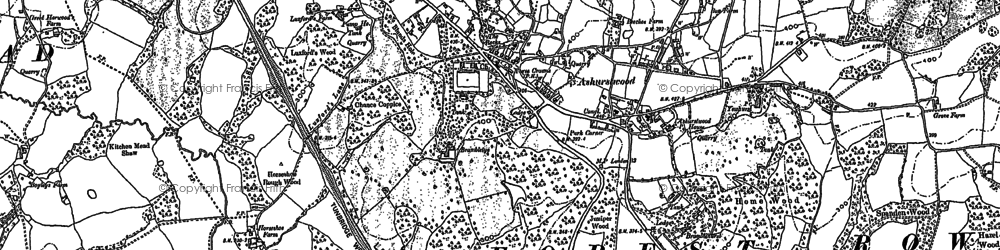Old map of Ashurst Wood in 1908