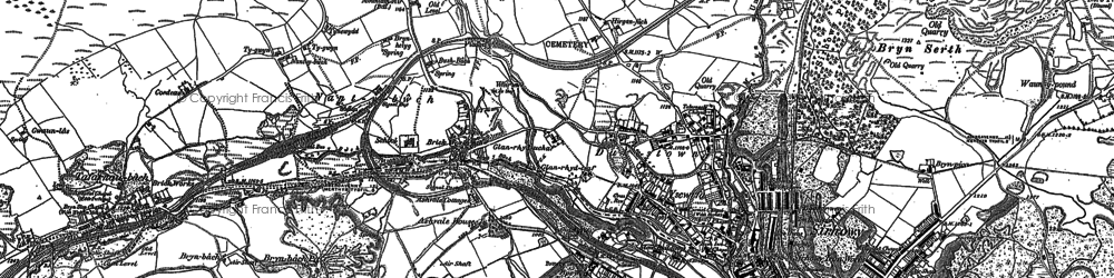 Old map of Ashvale in 1879