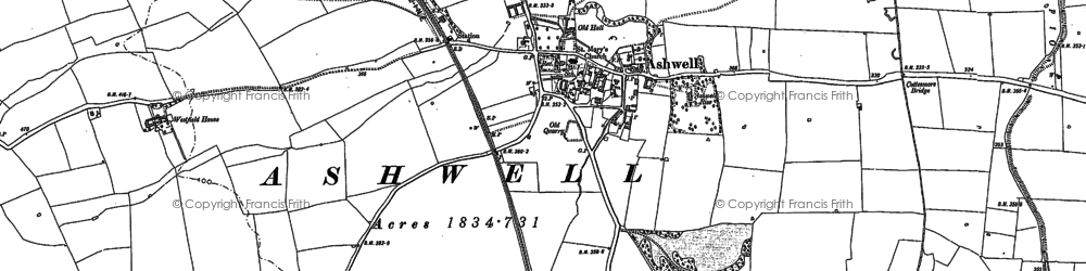 Old map of Ashwell Court in 1884