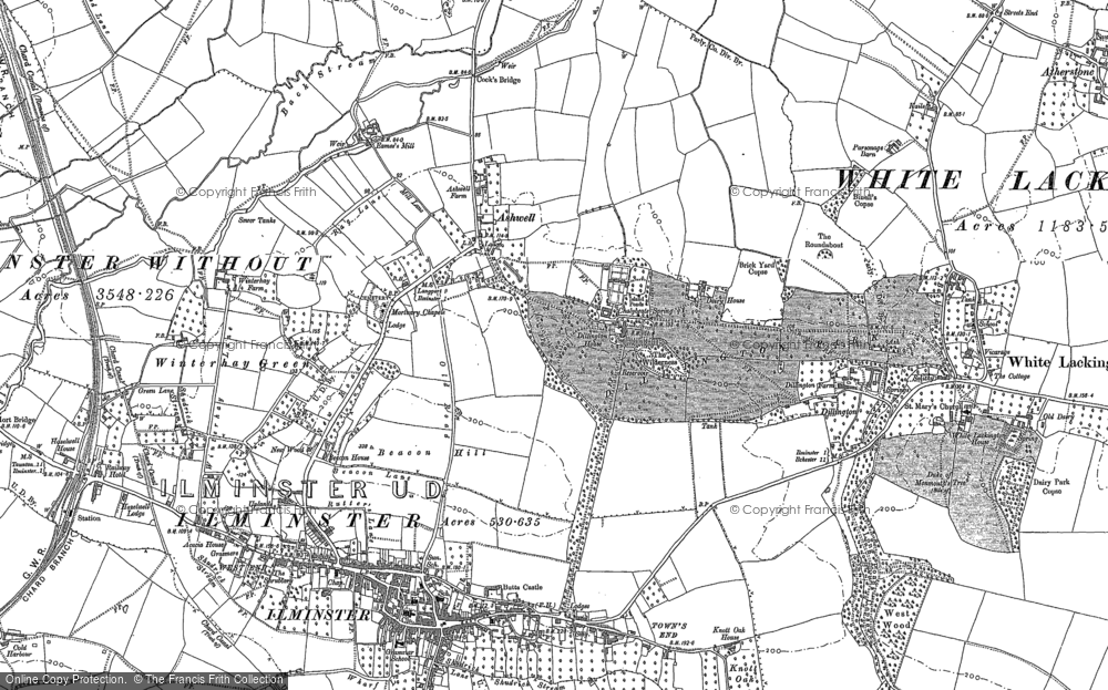 Old Map of Ashwell, 1886 in 1886