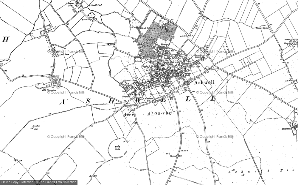 Map of Ashwell, 1900 - 1921