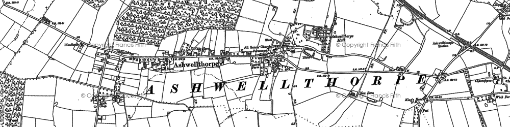 Old map of Ashwellthorpe in 1882