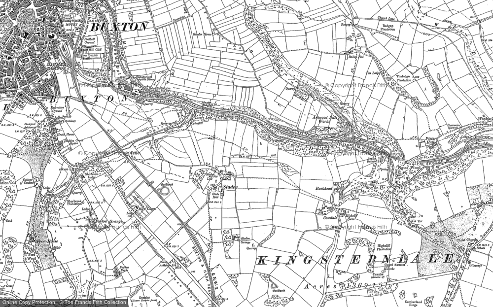Old Map of Ashwood Dale, 1879 - 1898 in 1879