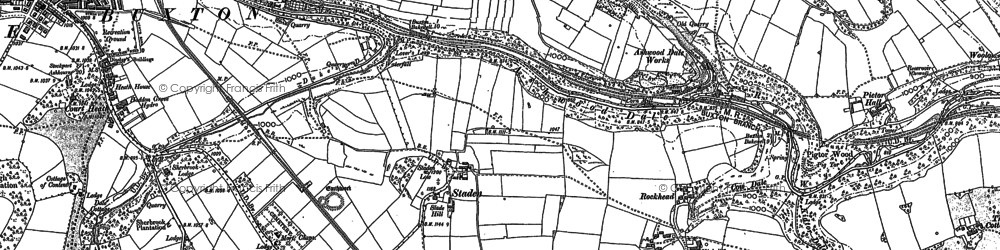 Old map of Ashwood Dale in 1879