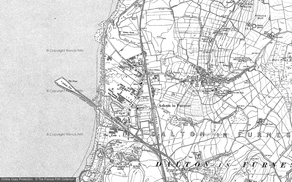 Old Map of Askam in Furness, 1911 in 1911