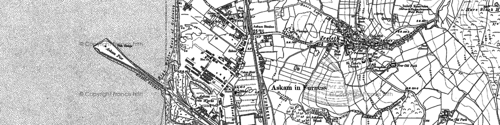 Old map of Askam in Furness in 1911