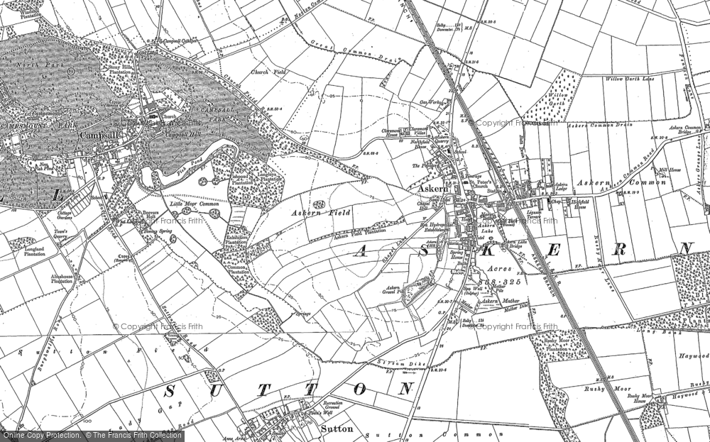 Map of Askern, 1891