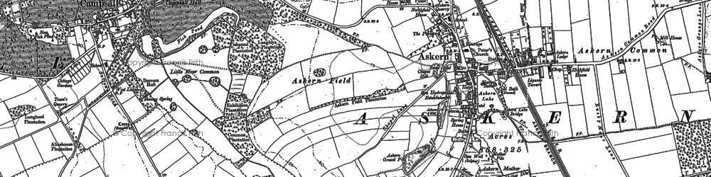 Old map of Askern in 1891