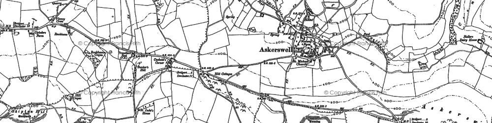 Old map of Askerswell Down in 1886