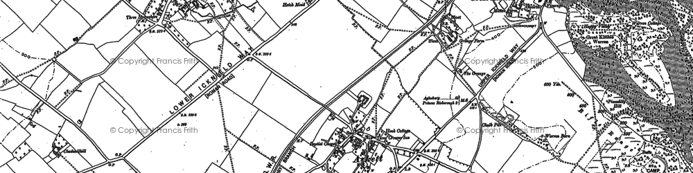 Old map of Askett in 1897