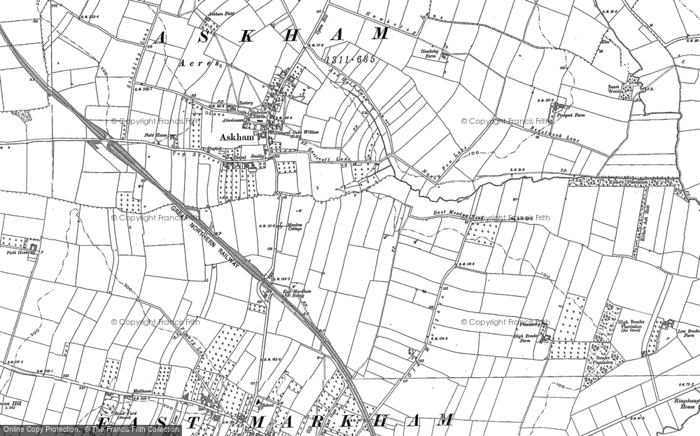 Old Map of Askham, 1884 in 1884