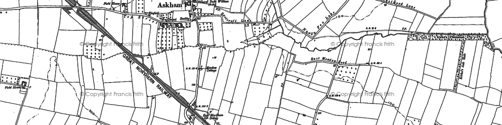 Old map of Askham in 1884