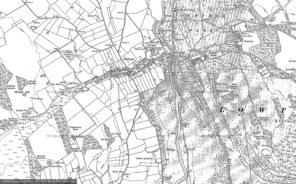 Old Map of Historic Map covering Askham Fell in 1913