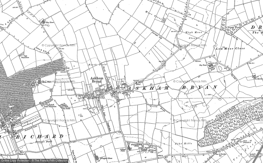Old Map of Askham Bryan, 1890 - 1892 in 1890