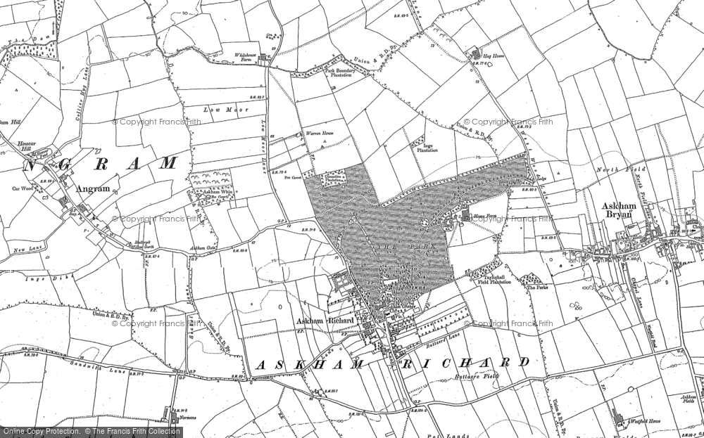 Old Map of Askham Richard, 1891 - 1892 in 1891