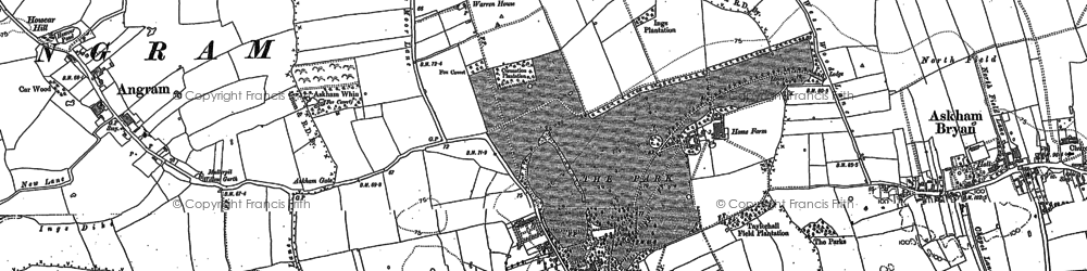 Old map of Askham Richard in 1891