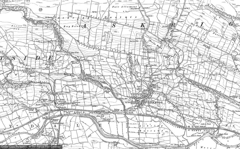 Old Map of Askrigg, 1892 - 1893 in 1892