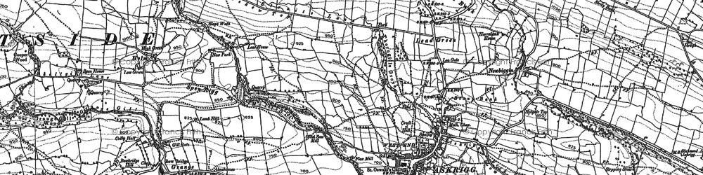 Old map of Askrigg in 1892