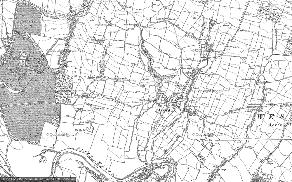 Old Map of Askwith, 1889 - 1907 in 1889