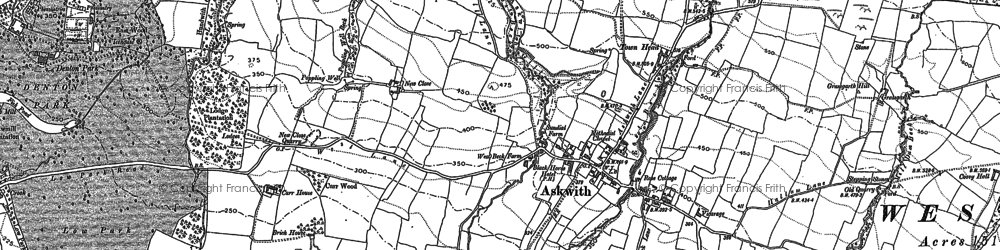 Old map of Weston Moor in 1889
