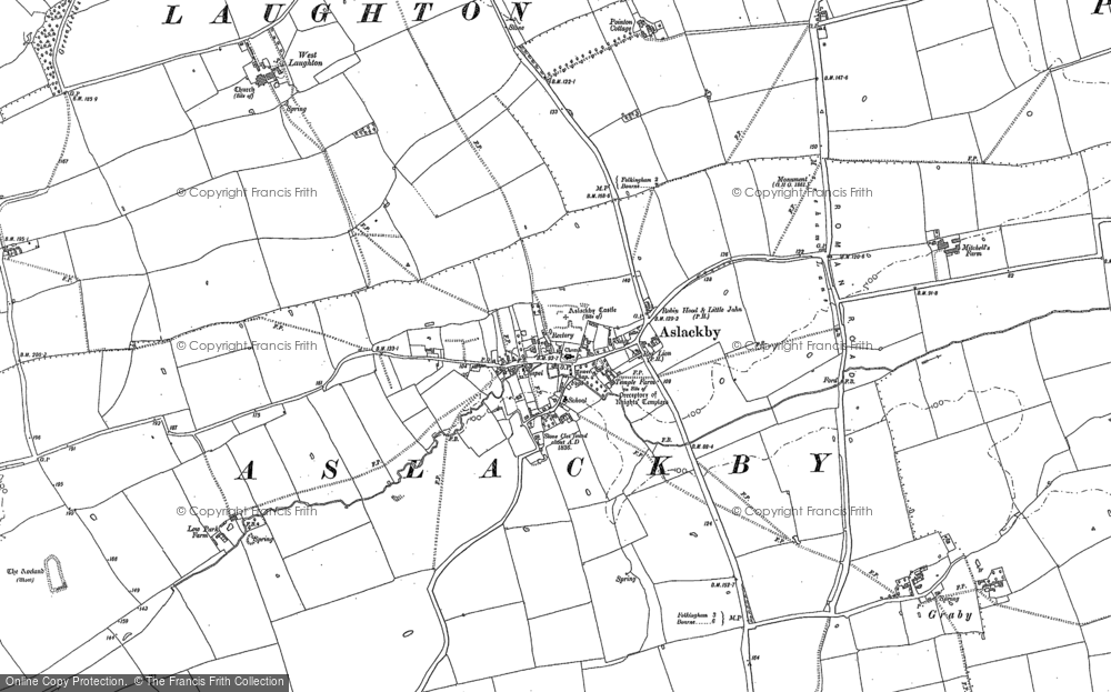 Old Map of Aslackby, 1886 - 1887 in 1886