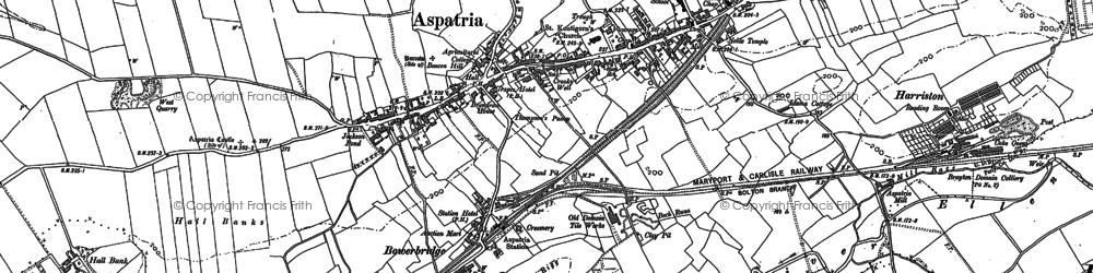 Old map of Aspatria in 1899