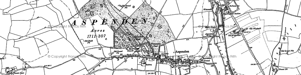Old map of Westmill in 1896