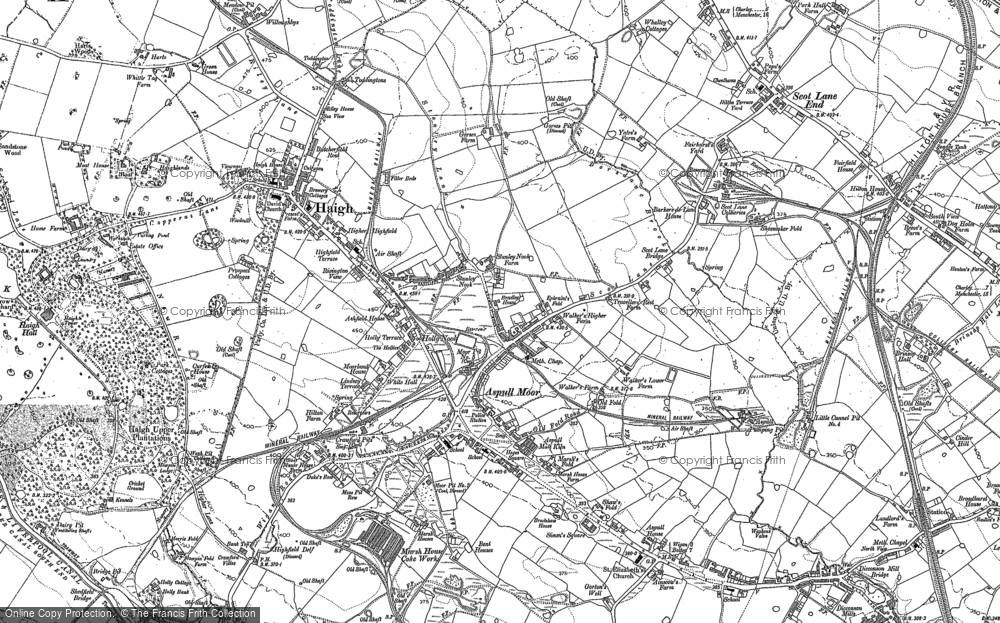 Map of Aspull, 1892